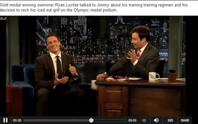 Late Night with Jimmy Fallon – Ryan Lochte Is Blingin'