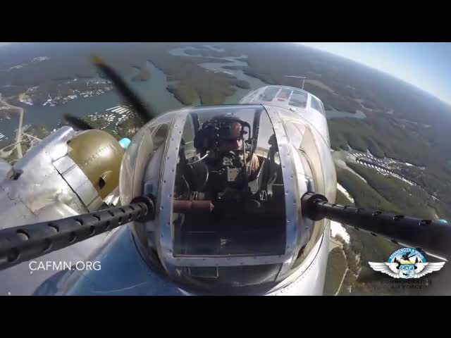 B-25 Top Gun Turret GoPro Video