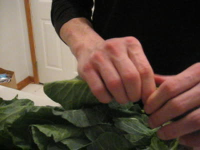 Cleaning Collards