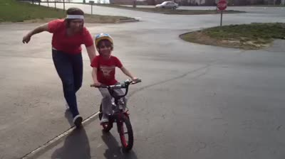 Ezra's First Bike Ride