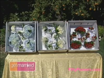 Wedding Flowers in a Box