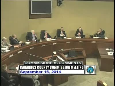Cabarrus County Commissioners Mtg 09.15.2014