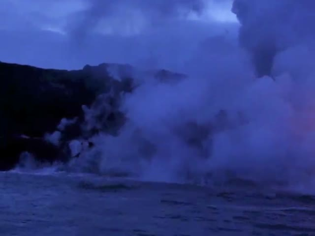 Lava Entering Sea