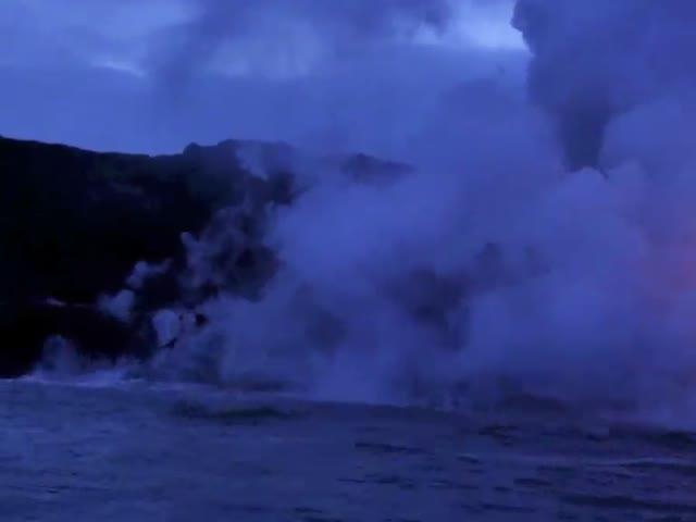 Lava Entering Sea