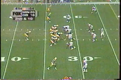 Favre to Bradford  Pack v Vike Courtesy of Fox Sports