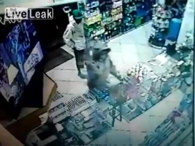 Robber  Shot In The Head At Close Range