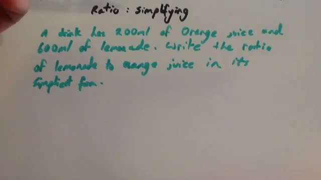 Ratio simplifying – Corbettmaths