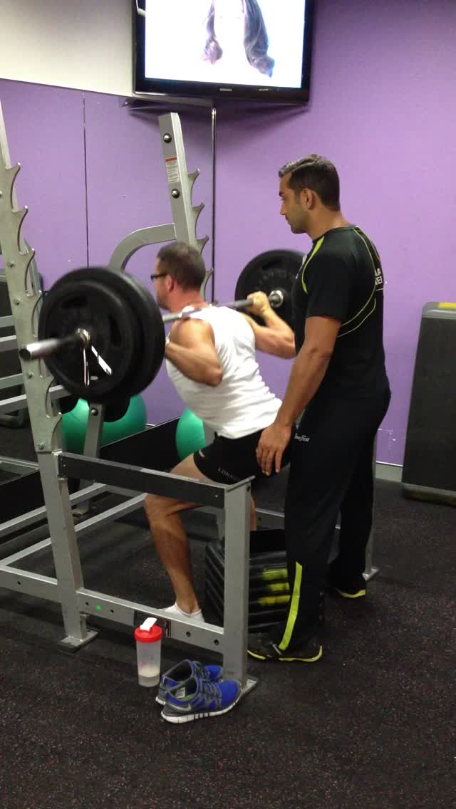140kg low box squat for 2 reps