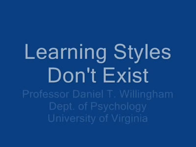 Learning Styles Dont Exist