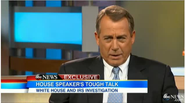 George Stephanopoulos intrviews Speaker Boehner
