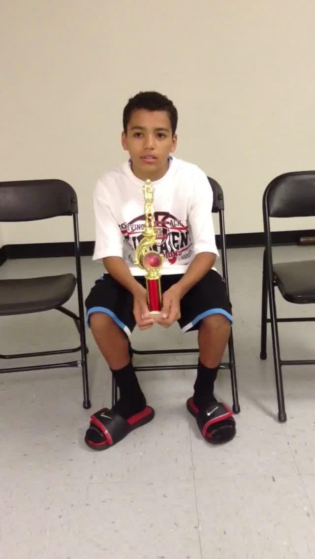 12u/6th Grade Most Valuable Player – Pierce Sterling – Riverside Matrix