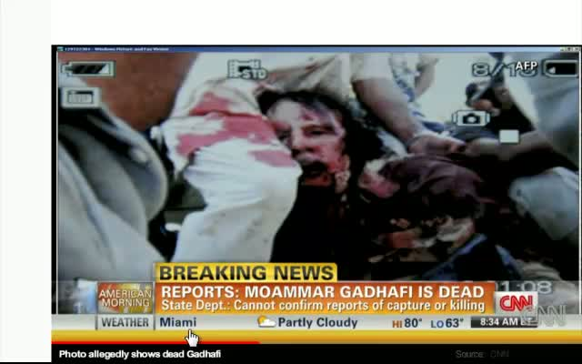 CNN Video Death of Kadhafi 102011