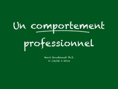 Comportement professionnelP