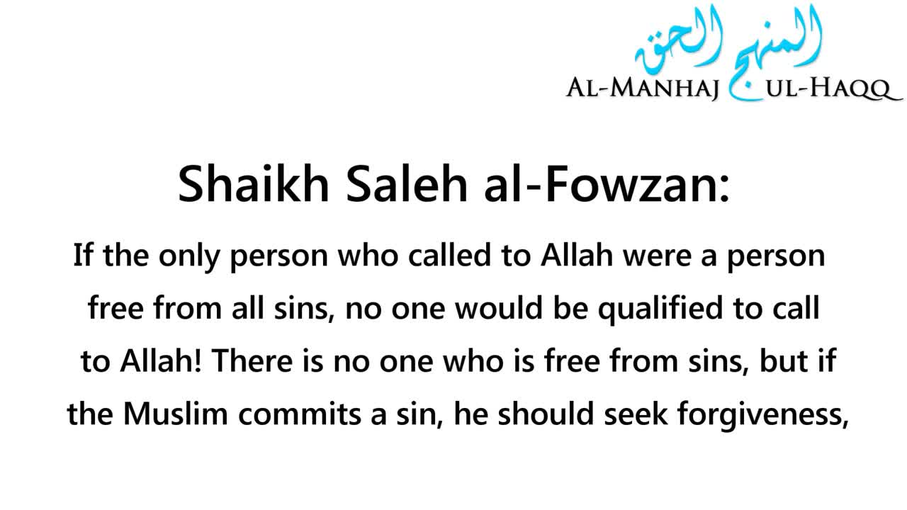 Advice to the Sinful caller – Shaikh Saleh al-Fowzan