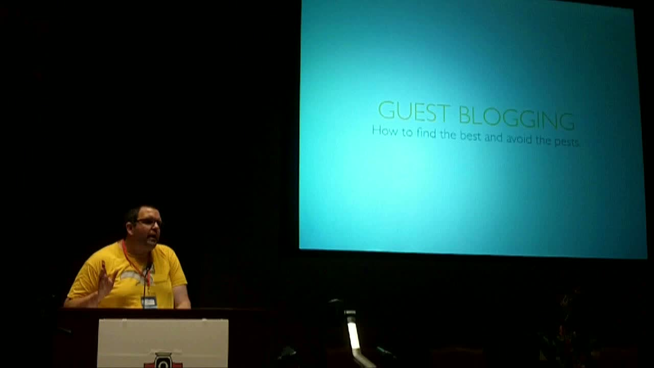 WordCamp Fayetteville Andy Crofford, Guest Blogging: How to find the best and avoid the pests