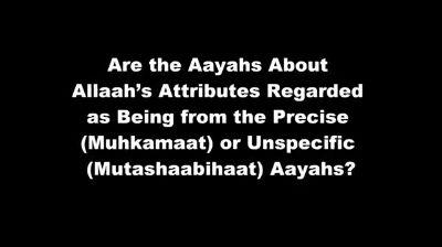 Allah's Attributes Precise or Unspecific – Shaykh al-Albaani