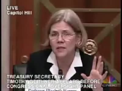 Elizabeth Warren to Geithner  It's called accountability! (4.29.09)