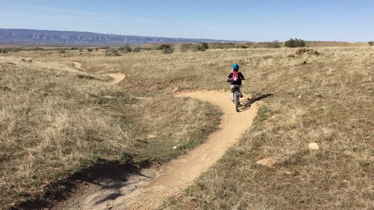 girl biking kessel's run