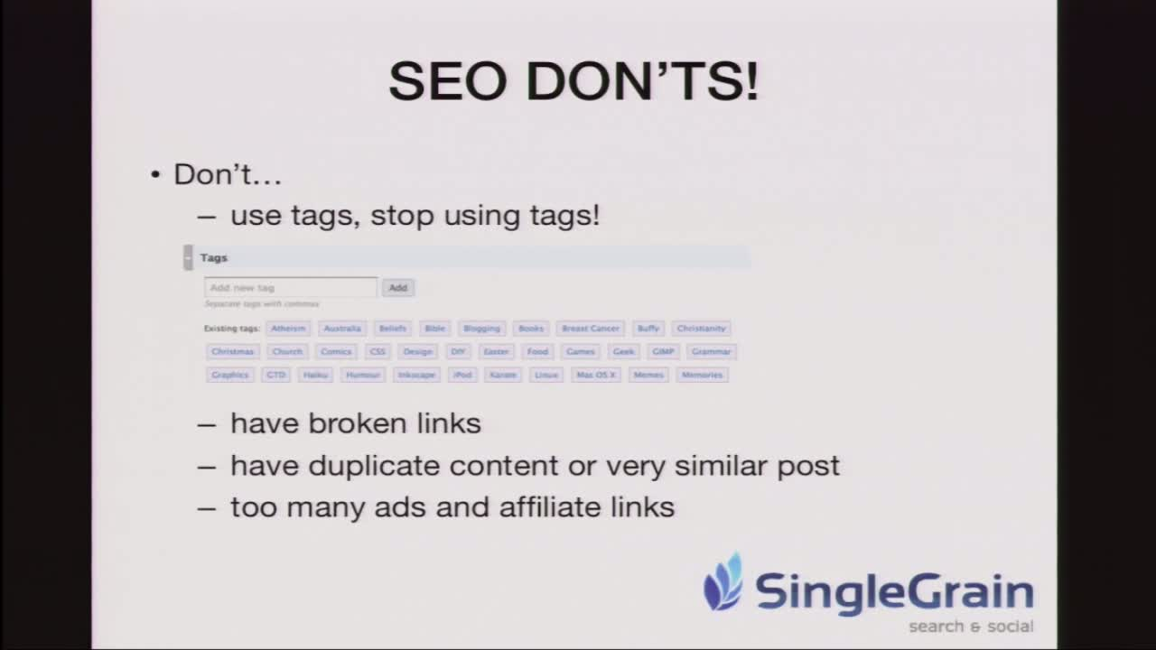 Sujan Patel: SEO for WordPress in 2011