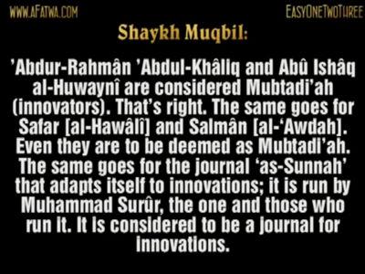 Abû Ishâq al-Huwaynî is an innovator – Sh Muqbil