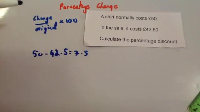 Percentage Change &#8211; Corbettmaths