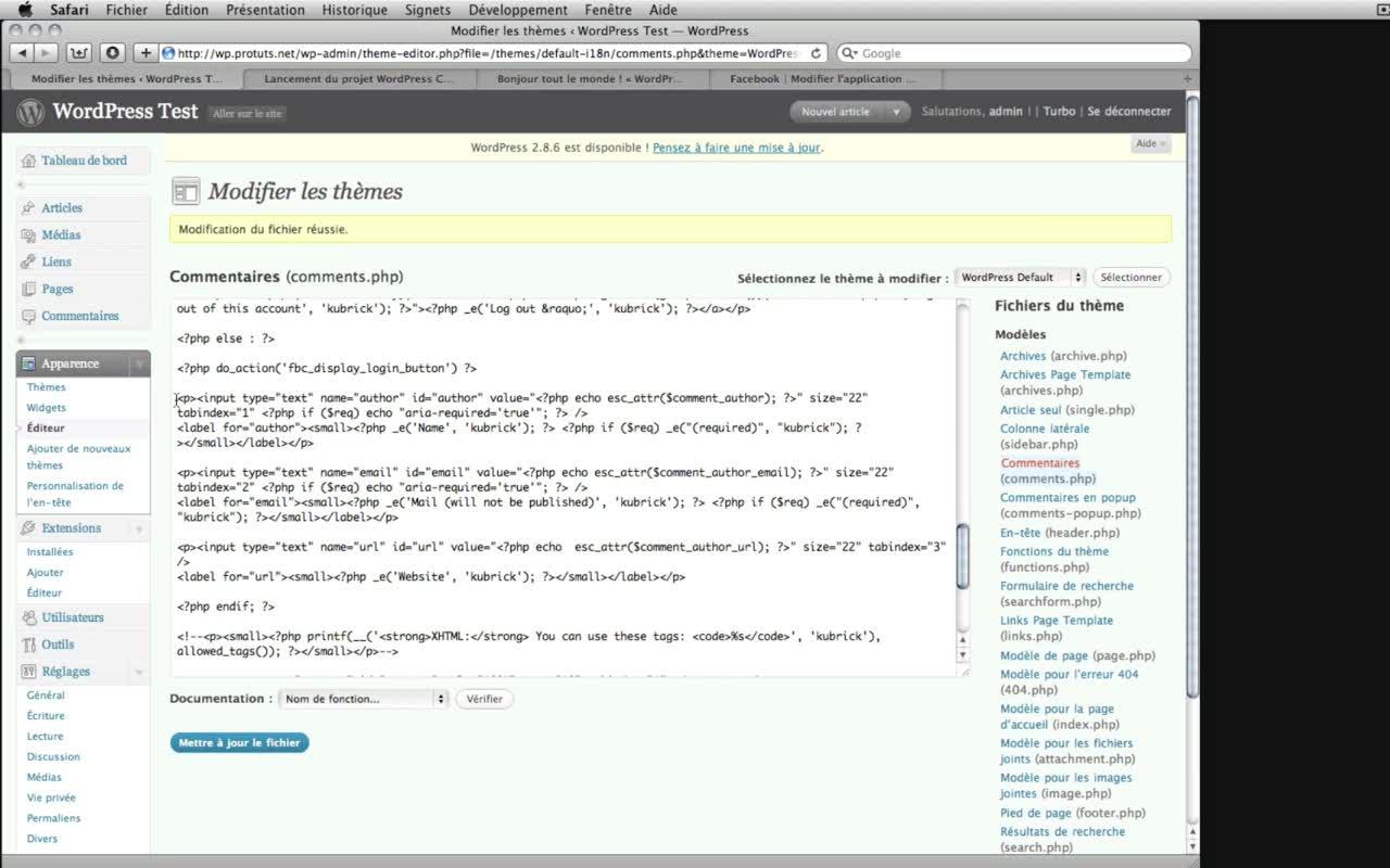 WordPress – Intégrer Facebook