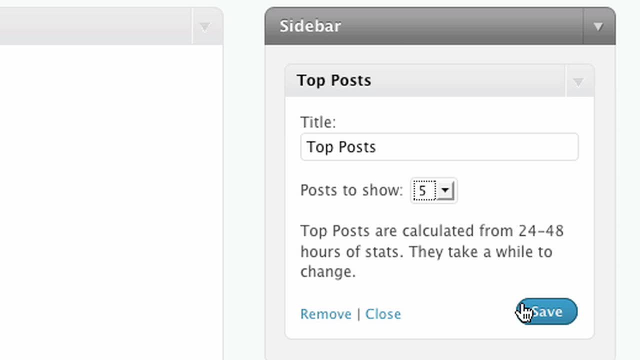 The Top Posts Widget