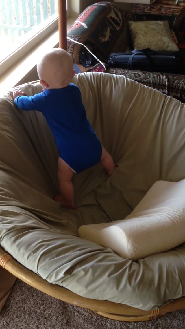 Standing in the Papasan Chair – February 14, 2015 – IMG_1764