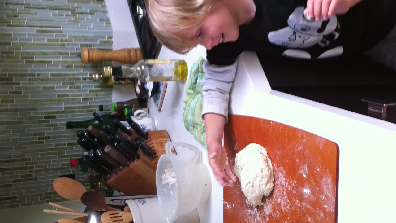 Flynn making bread