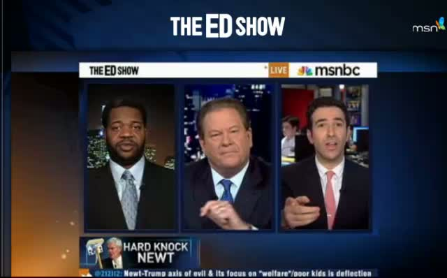 MSNBC EdShow Newt Gingrich and Donald Trump Lipstick on a Pig 12-05-11
