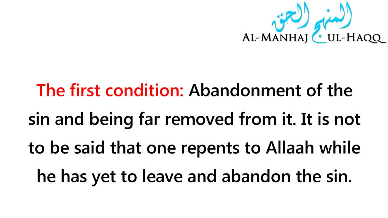 Repentance – Its Meaning and Conditions – Shaykh Saalih al-Fawzaan