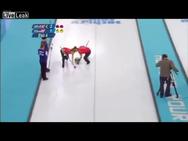Sir David Attenborough Describes Olympic Curling