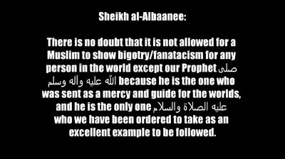 Being Bigoted or Fanatical About One Person or Shaikh – Shaykh al-Albaanee