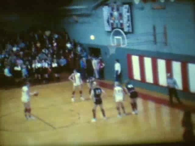 Rolfe (white uniforms) vs Laurens at Pocahontas 1971-72 Sectionals