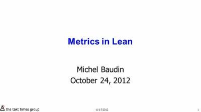 Metrics in Lean