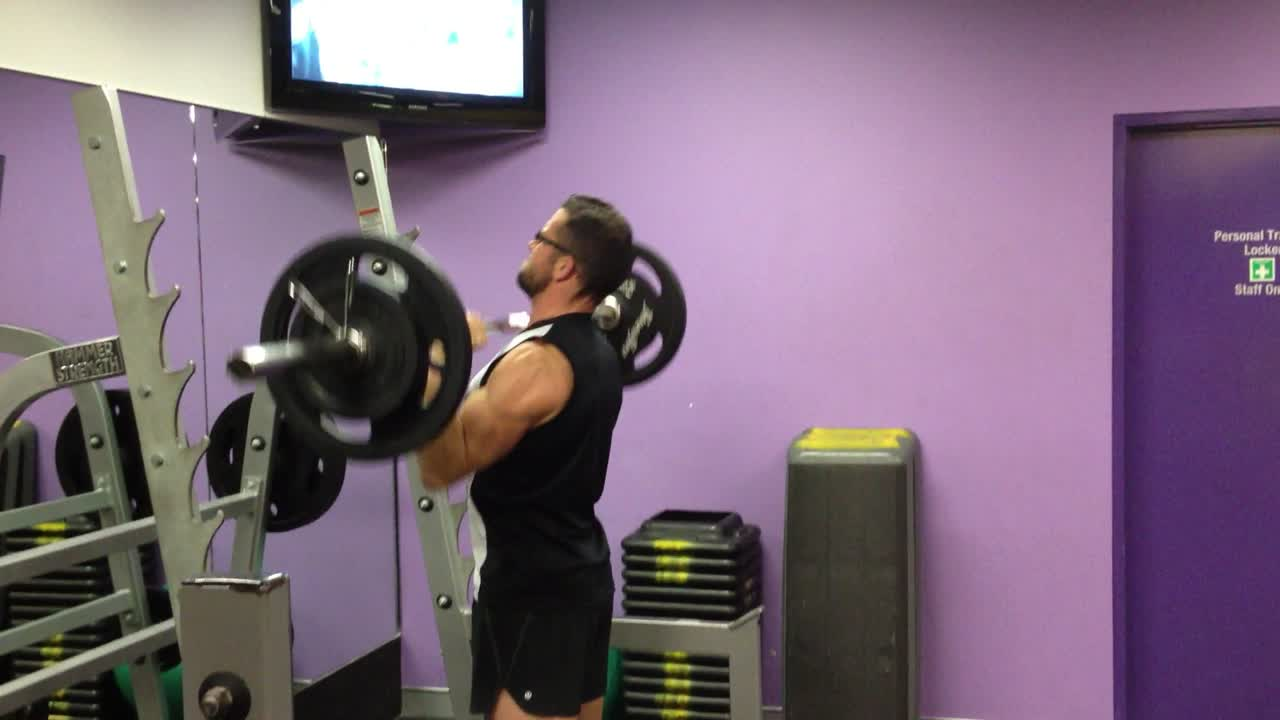 60kg military press 25/May