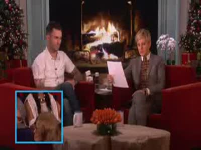 Adam Levine on the Ellen Degeneres Show 5 Dec 2013