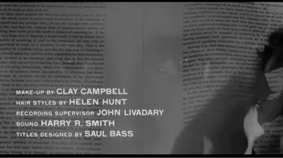 Saul Bass title sequence &#8211; Storm Center (1956)