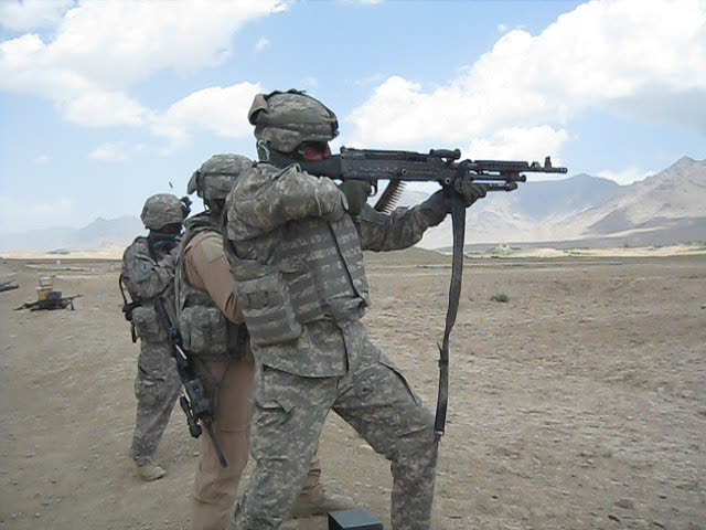 Shooting range in Afghanistan July 4th 2009