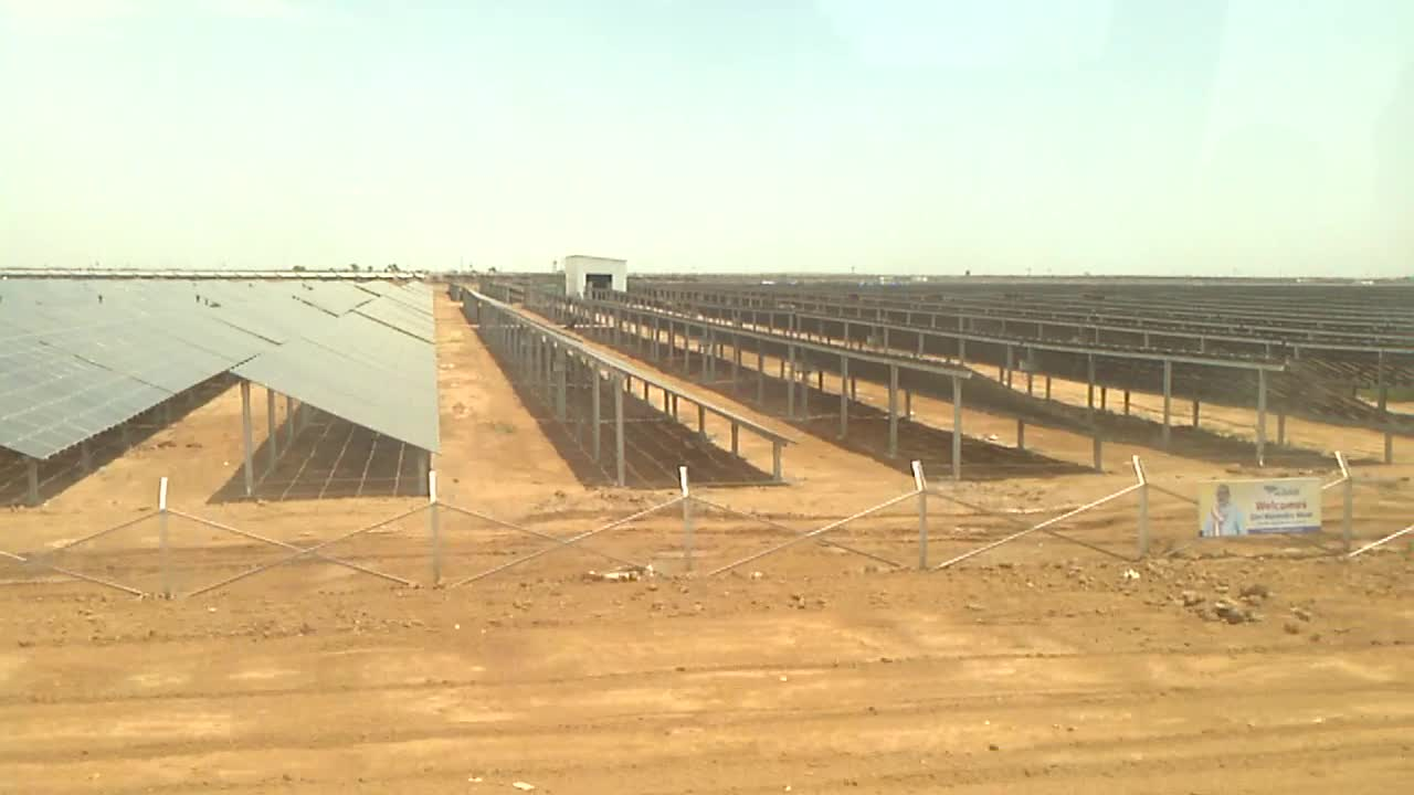 Charanka Gujarat Solar Power Plant Visit