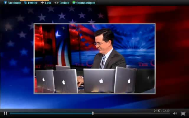 The Colbert Report – Stephen Colbert on Super Tuesday – 03-05-12