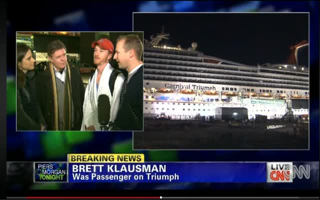 CRUISE SHIP TRIUMPH REACHES PORT…FINALLY!