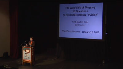 Ruth Carter: Legal Side of Blogging
