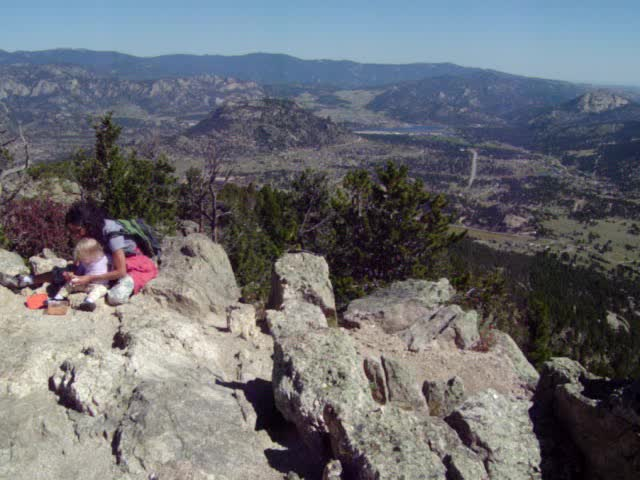 Summit if Lily Mountain in Estes Park, Colorado