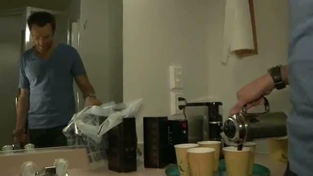 Joel McHale sexily serves coffee; Will he be People's 'Sexiest Man Alive'