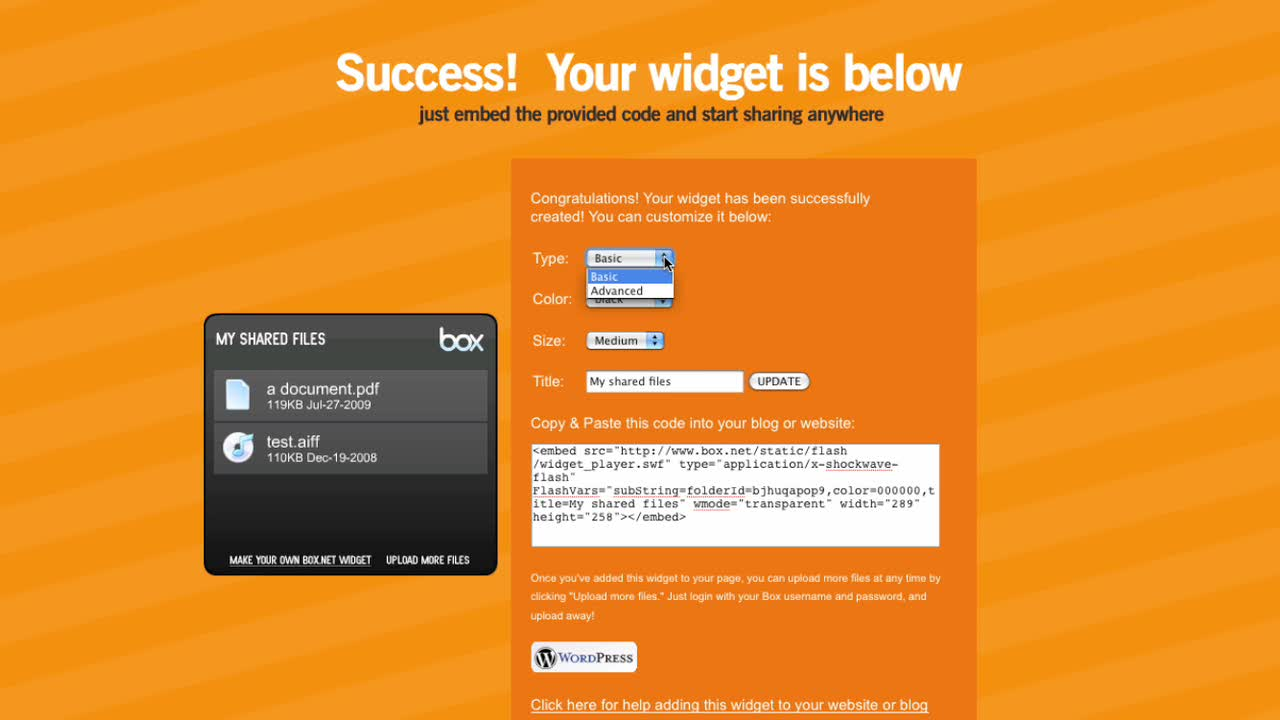 Box.net Widget