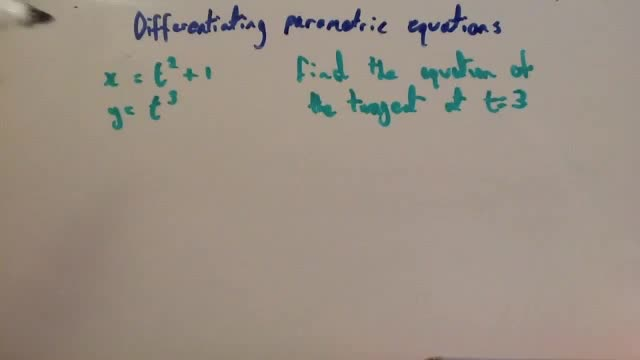Differentiating parametric equations – Corbettmaths