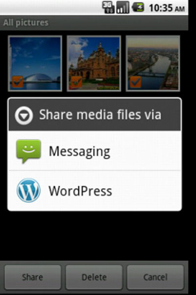 WordPress for Android 1.3.6 – Media Upload
