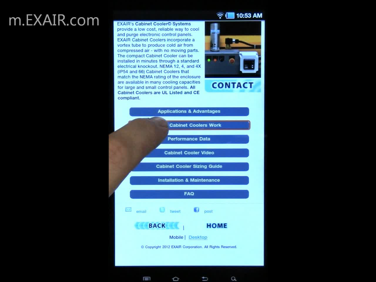 EXAIR Mobile Introduction – BF 6-29-12