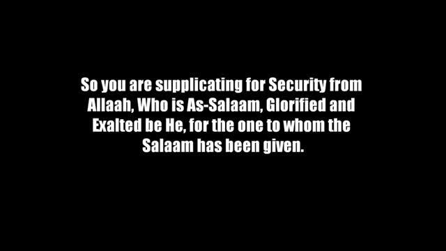The Meaning of the Salaam – Shaykh Muhammad ibn Haadee